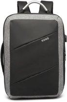Rugzak - Anti Diefstal - Inclusief Usb Oplaadstation - Laptop Tas -Waterbestendige - 15.6 inch - Business Tas - Anti Theft - Schooltas - Zwart - Kono (E6870 BK)