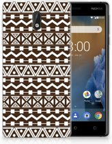 Nokia 3 Uniek TPU Hoesje Aztec Brown