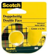 Scotch® Dubbelzijdige Tape, 12 mm x 6.3 m