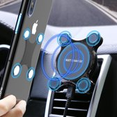 QY - 2 in 1 draadloze oplader voor in auto - via ventilator of vastplakken - wireless charger - car charger - Telefoon Houder Auto - Autolader