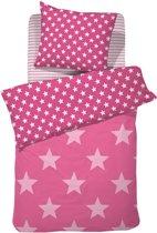 Damai Starville Dekbedovertrek - Eenpersoons - 140x200/220 cm - Pink