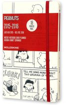 2016 Moleskine 18 month limited edition planner - Peanuts - weekly notebook - large - white - hard cover