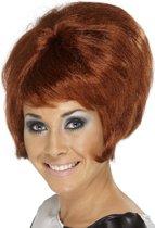 Hoge bruine pruik - Kort haar
