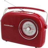 Soundmaster radio DAB450RO rood - DAB+