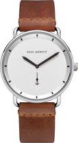 Paul Hewitt Breakwater Line PH-BW-S-W-57M - Horloge - Leer - Zilverkleurig - 42mm