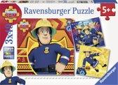 Ravensburger Brandweerman Sam. Bij gevaar Sam roepen- Drie puzzels van 49 stukjes - kinderpuzzel