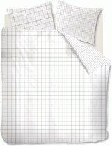 Ambiante Colin - Dekbedovertrek - Tweepersoons - 200x200/220 cm + 2 kussenslopen 60x70 cm - White