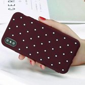 Movizy iPhone X siliconen cover polkadot - paars