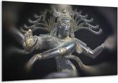 Glasschilderij Religie | Grijs, Zwart, Zilver | 120x70cm 1Luik | Foto print op Glas |  F001547