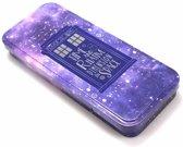 Half Moon Bay Pencil Case (Tin) - Dr Who Tardis Galaxy