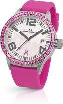 Marc Coblen for Pink Ribbon - Polshorloge -  45 mm - Witte wijzerplaat - Roze horlogeband