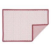 Clayre & Eef - Placemat katoen - 48 x 33 cm - Rood - 6 stuks