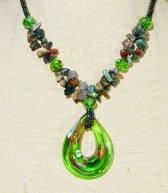 Agaat Collier met Murano Glas Hanger