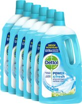 Dettol Allesreiniger Power & Fresh Katoenfris - 6 x 1 liter