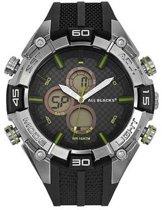 All Blacks 680164 digitaal/ analoog horloge 50 mm 100 meter zwart/ groen