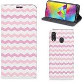 Samsung Galaxy M20 Hoesje met Magneet Waves Roze