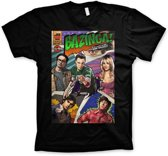 Merchandising THE BIG BANG - T-Shirt BAZINGA Comic Cover - Black (XL)