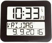 Radiografische kalenderklok TF2000 Zwart   Timeline Maxx -