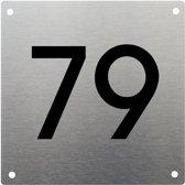 RVS Huisnummer 20x20cm nummer 79