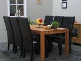Mark Giessen - Eethoek met 6 stoelen - 90x160 cm - Eiken/Zwart