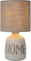 Lucide COSBY - Tafellamp - Ø 16,5 cm - E14 - Grijs