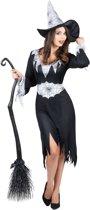 Zwart met wit heksen kostuum voor vrouwen - Volwassenen kostuums