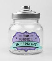Glazen Snoeppot- Voor de grootste snoepkont