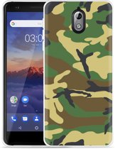Nokia 3.1 Hoesje Army Camouflage Green