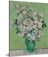 Rozen - Schilderij van Vincent van Gogh Aluminium 60x80 cm - Foto print op Aluminium (metaal wanddecoratie)