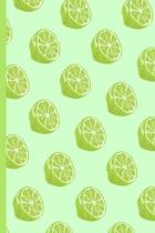 Lime Notebook: Cute Lime Pattern Decorated Small Lined Notebook for Kids, Women, Children, Men, Boys, Adults 120 Pages 6'' x 9''