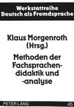 Methoden Der Fachsprachendidaktik Und -Analyse