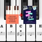Piano keyboard stickers inclusief 2 e-books - Muziek noten voor witte en zwarte toetsen - Beginners leren spelen - Lesboek