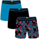 Muchachomalo - Heren 3-Pack Agains The Stream Boxershorts Blauw Zwart - XXL