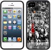 Case Creatives Telefoonhoesje Michael Jordan Het schot -   iPhone 5, 5S, SE  Zwart - Handgemaakt