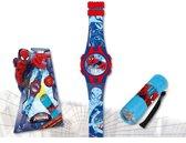 Spiderman - digitaal horloge + zaklamp - geschenkset