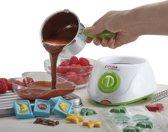 Cooks Professional Electrische Chocolade Fondue Melting Pot, Warmer, Chocolatier, Cheese Melter, inclusief spatel, 10 spiesen en 10 vorken