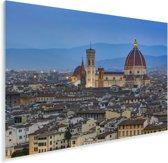 Stad en de Dom van Florence in de avond Plexiglas 180x120 cm - Foto print op Glas (Plexiglas wanddecoratie) XXL / Groot formaat!
