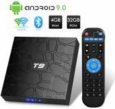 DrPhone -T9 Android 9.0 TV Box - 4GB DDR3 RAM - 32GB ROM - RK3328 - Bluetooth 4.0 Quad-Core Cortex-A53 - 64 Bits Support Dual WiFi 2.4G/5G - 4K 3D Ultra HD HDMI H.265 - Zwart