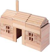BLOKKENDOOS, in blank hout, 200 pi?ces, blok 10,5x2x1cm, Made in Europe, 3+