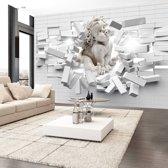 Fotobehang - Moderne Engel, wit  grijs