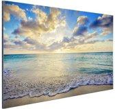 FotoCadeau.nl - Zonsopkomst boven de zee  Aluminium 90x60 cm - Foto print op Aluminium (metaal wanddecoratie)