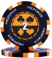 Pokerchip Pro Poker Clay Chip 13,5 Gram Oranje 2 Per 25
