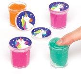 Magisch slijm met regenboogeenhoorn voor kinderen - Een leuk cadeautje voor in uitdeelzakjes voor kinderen (8 stuks per verpakking)