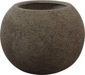 Bloempot zandkleurig 35 cm (diameter) x 28 cm (hoogte)