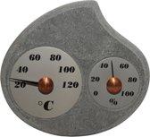 """Sauna stenen thermometer en hygrometer """"Maininki"""""""