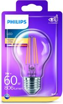 Philips 7W (60W) E27 Warm white Non-dimmable Bulb energy-saving lamp