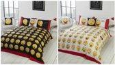 Emoji Smiley lits jumeaux dekbedovertrek, Smileys dekbed 240 x 220 cm