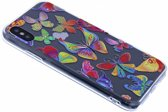 iPhone X / Xs 3D Butterfly Design Back Cover Hoesje