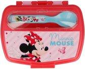Minnie Mouse broodtrommel lepel en vork