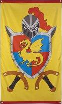 16 stuks: Vlag - Ridders & Draken - 150x90cm